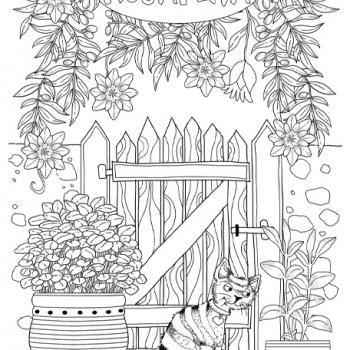 Värityskirjakuvitus - Anita Polkutie