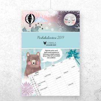 Camalan perhekalenterin suunnittelu ja taitto
