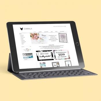 www.camala-store.fi - visuaalisen ilmeen suunnittelu